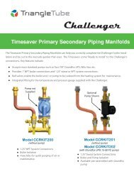 Timesaver Primary Secondary Piping Manifolds ... - Triangle Tube