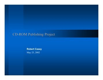 CD-ROM Publishing Project - Rcasey.net