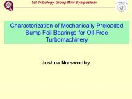 Characterization of Mechanically Preloaded Bump ... - Tribology Group