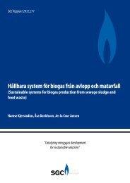 Hållbara system för biogas från avlopp och matavfall