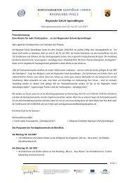 Regionale Schule Sprendlingen - Ganztägig Lernen.