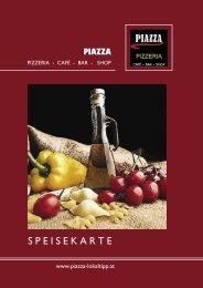 S P E I S E K A R T E - Pizzeria Piazza