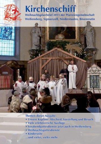 Pfarrbrief Weihnachten 11 - im Kirchenschiff