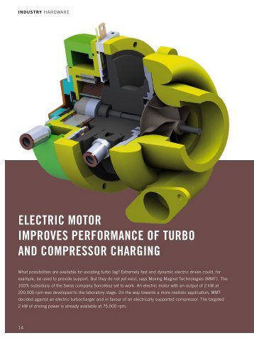 electric motor improves performance of turbo and compressor ...