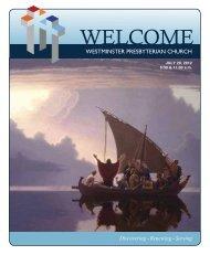 July 29, 2012 - Westminster Presbyterian Church