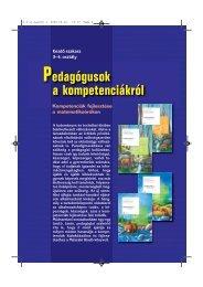 Pedagógusok a kompetenciákról 3-4. osztály - Műszaki Könyvkiadó