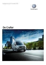 Prijslijst VW Bedrijfswagens Crafter per 01-10-2012.pdf - Fleetwise