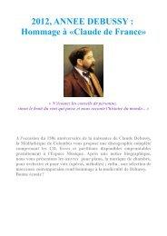 Debussy - Médiathèques de Colombes