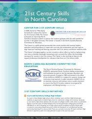 21st Century Skills in North Carolina - Public Schools of North ...