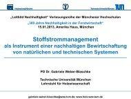 Präsentation PD Dr. Gabriele Weber-Blasche - BenE – München