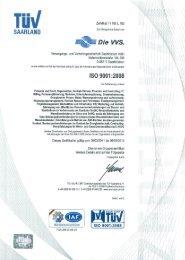 VVS-Zertifizierungen - Versorgungs- und Verkehrsgesellschaft ...
