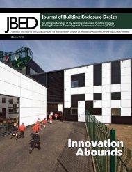 Journal of Building Enclosure Design (JBED) - Winter 2011