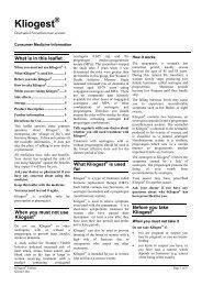 Kliogest - Novo Nordisk Australasia
