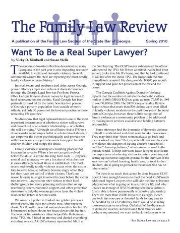 Spring 2010 - Atlanta - Divorce Lawyer - Family Law - Atlanta Georgia