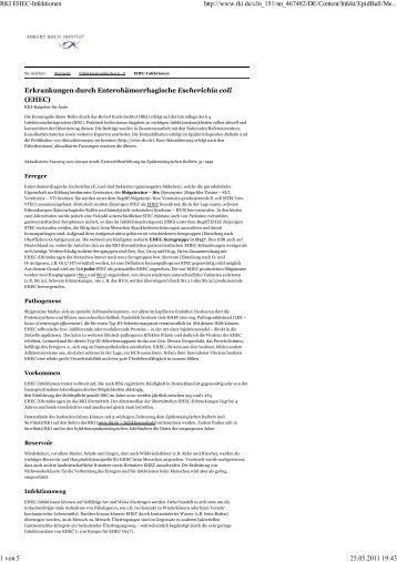 RKI EHEC-Infektionen - PICO-Medical GmbH