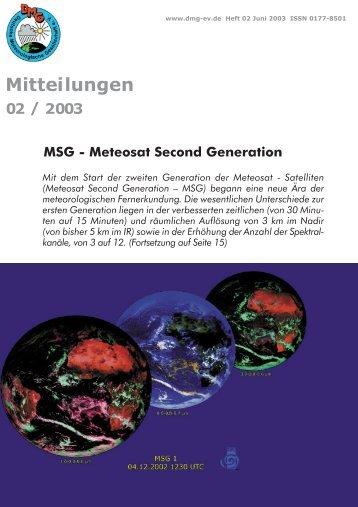 Heft 2/2003 - Deutsche Meteorologische Gesellschaft eV (DMG)