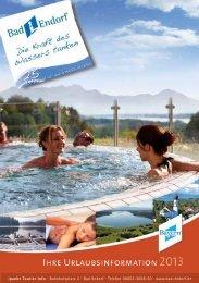 Gastgeberverzeichnis 2013 - Bad Endorf