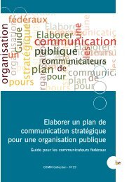 Elaborer un plan de communication stratégique pour une ... - Fedweb