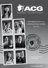 InformatIon and applIcatIon form - The Academic Colleges Group