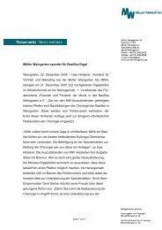 Müller Weingarten spendet für Basilika-Orgel Weingarten, 22 ...