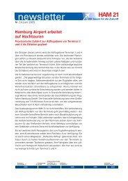 Hamburg Airport arbeitet auf Hochtouren