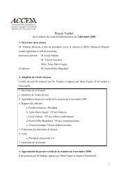 Procès Verbal - Faculté de médecine - Université Laval