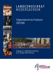 taetigkeitsbericht07-08.pdf - Landesmusikrat Niedersachsen eV