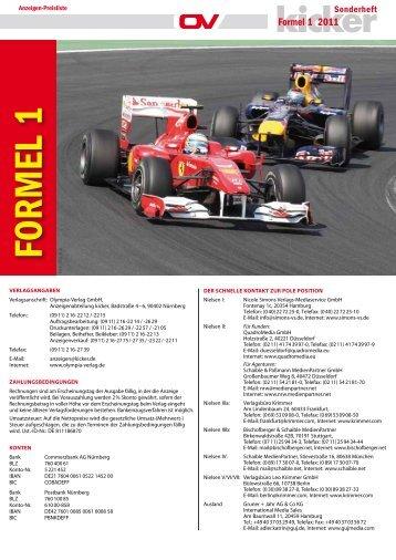 FORMEL 1 - Olympia-Verlag