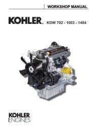 WORKSHOP MANUAL KDW 702 - 1003 - 1404 - Kohler Engines