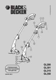 GL280 GL301 GL315 GL350 - Black & Decker