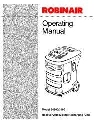 Robinair 34900 Multi-Refrigerant Recovery Unit - NY Tech Supply