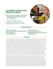 California Dairy Foods Research Center - InnovateWithDairy.com