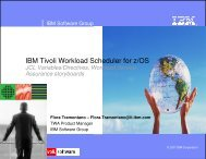 IBM Tivoli Workload Scheduler for z/OS - Nordic TWS conference