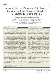 Levantamento das Parasitoses Intestinais em Escolares ... - NewsLab