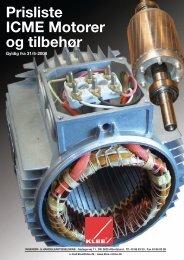 Prisliste ICME Motorer og tilbehør - Brd. Klee A/S