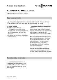 Notice d'utilisation Vitosolic 20061 KB - Viessmann
