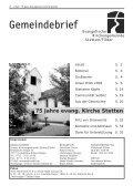 75 Jahre evangelische Kirche Stetten/Filder 1934 – 2009 - Seite 2