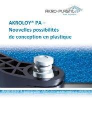 AKROLOY® PA - AKRO-PLASTIC GmbH