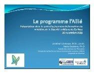 Le programme l'Allié - Présentation dans le cadre des Journées de ...