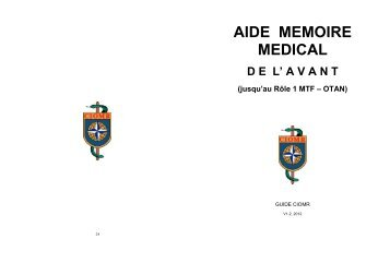 AIDE MEMOIRE MEDICAL DE L' AVANT - ciomr