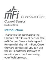 mFi Current Sensor Quick Start Guide - Ubiquiti Networks