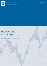 Economic Bulletin Vol IX No. 3 - Central Bank of Trinidad and Tobago