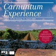 Ein (Wein) - Carnuntum Experience