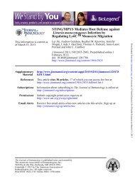 STING/MPYS Mediates Host Defense against Listeria ...