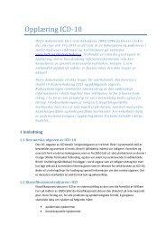 Opplæring ICD-10 - KITHs