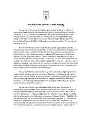 Horace Mann School: A Brief History