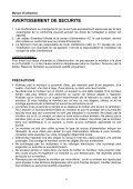 instructions d'utilisation - Page 6