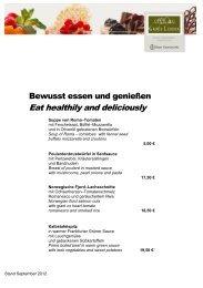 aktuelle Speisekarte - Bayer Gastronomie GmbH