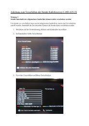 Anleitung zum Verschieben der Sender Kabelreceiver C-HD ... - Triax
