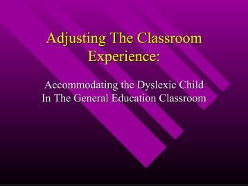 Adjusting The Classroom Experience: